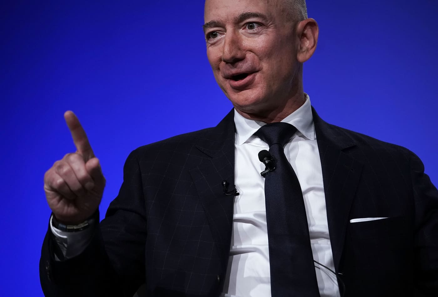 bezos jeff mars amazon space ceo much owner satellite company live humans charity colonies founder origin internet bring race which
