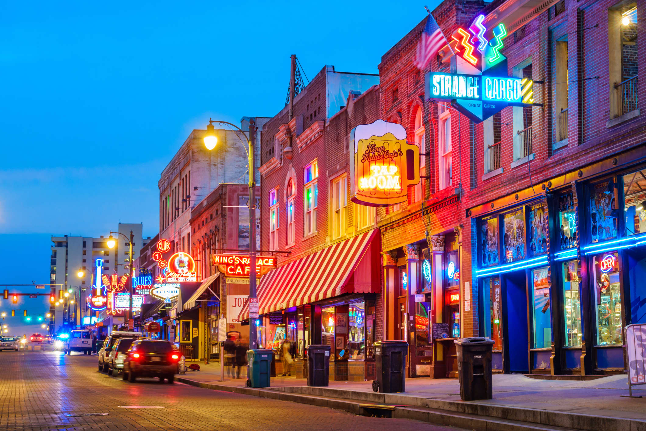 GP: Beale Street Music District in Memphis Tennessee USA
