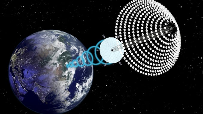 H/O rendering of space-based solar power project