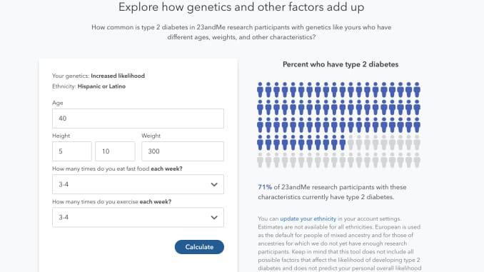 23andMe diabetes