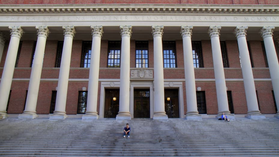 Widener Library at Harvard University