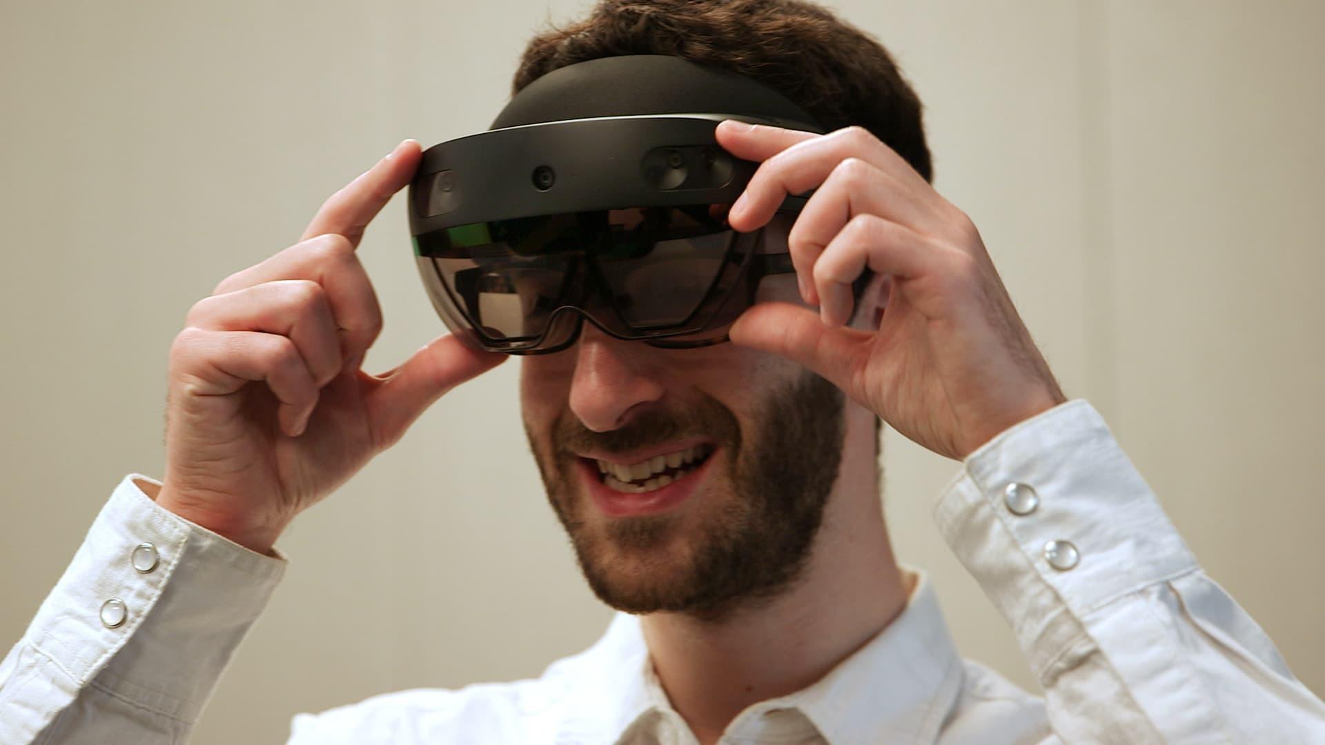 Microsoft's HoloLens 2.