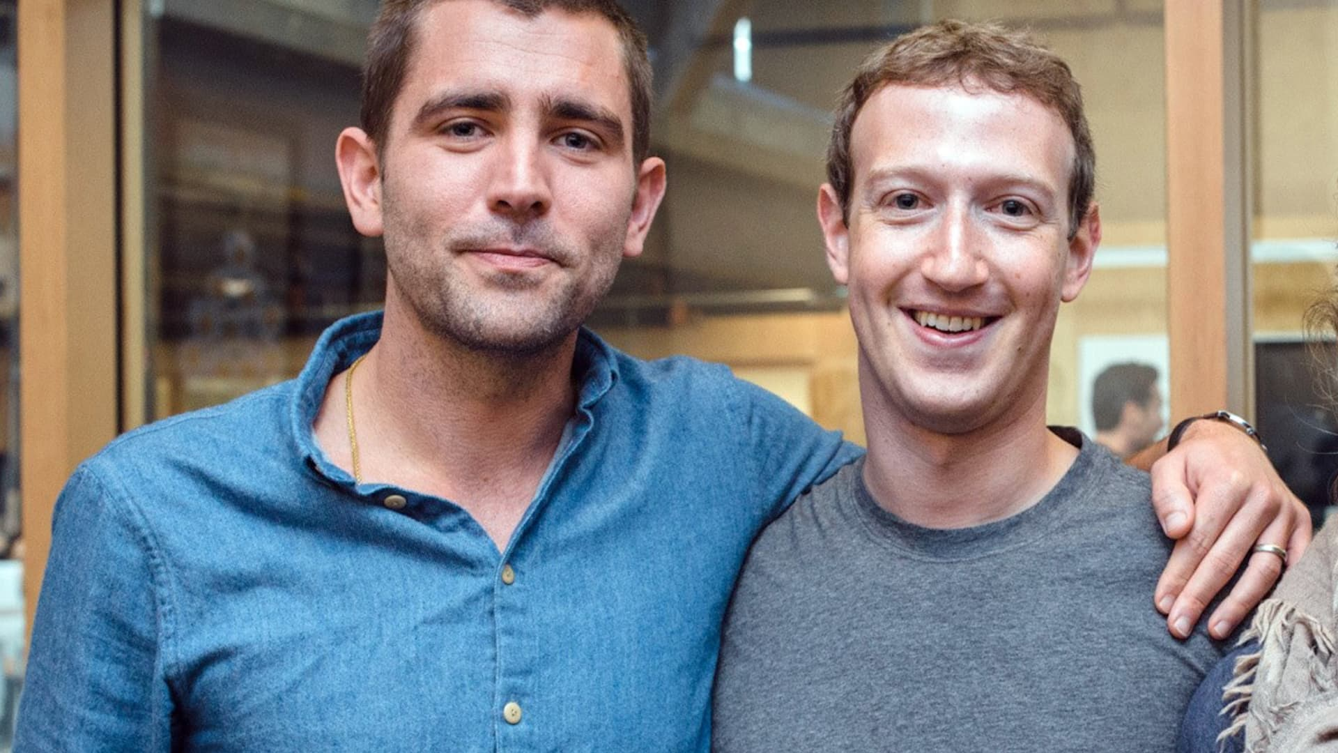 Facebook's chief product officer, Chrix Cox, left, and CEO Mark Zuckerberg.