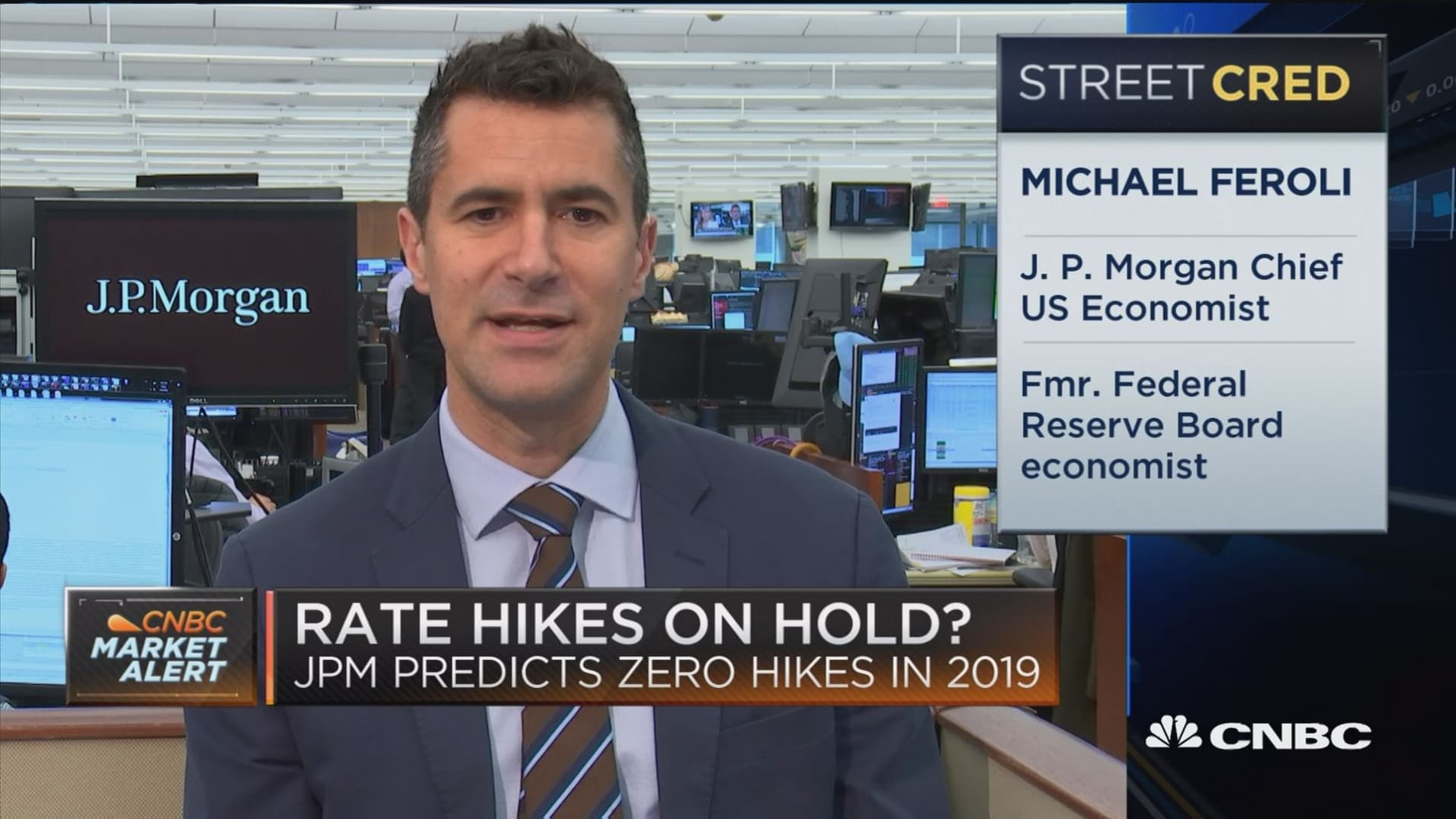 Fed will not raise rates in 2019, predicts JP Morgan chief economist