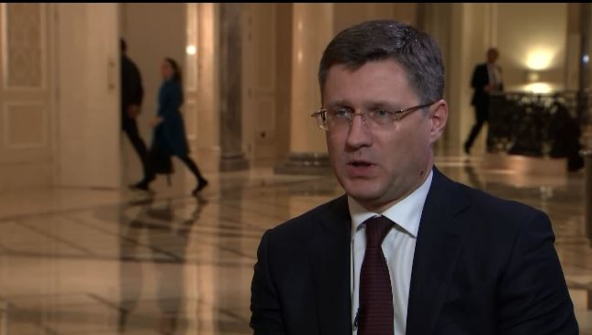 Russian energy min: We plan to reach target output figures by April