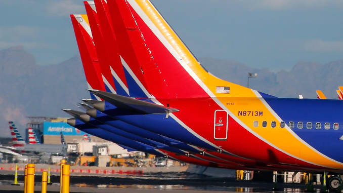 GS: Southwest Airlines Boeing 737 MAX 8 Aircraft 190313