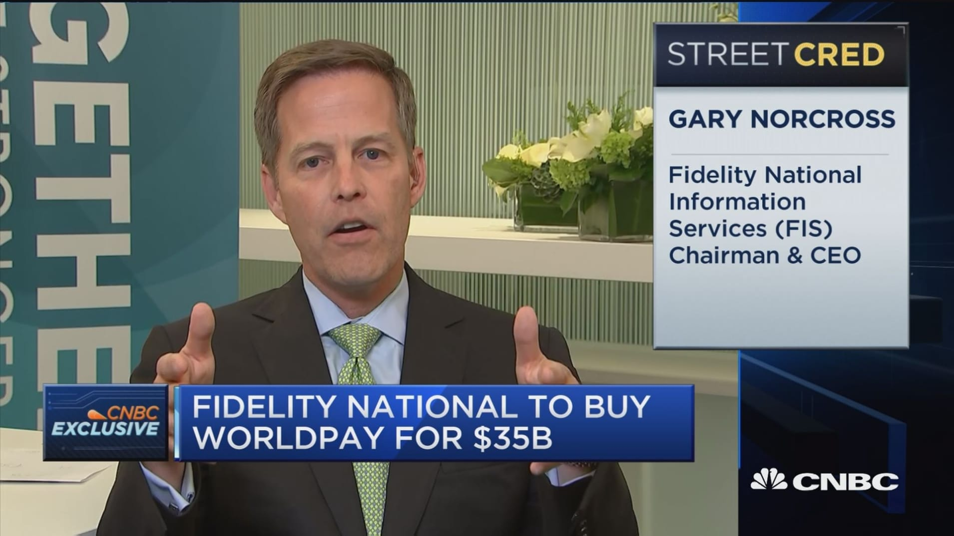 Fidelity National CEO discusses Worldpay acquisition