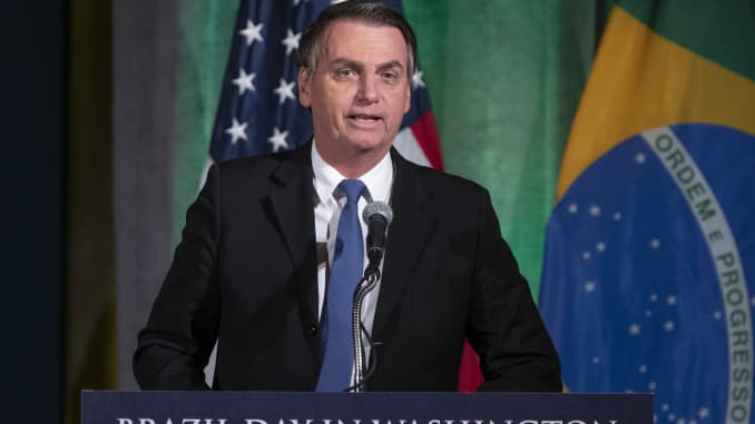 GP: Brazilian President Jair Bolsonaro Speaks At U.S. Chamber Of Commerce Brazil Day Event