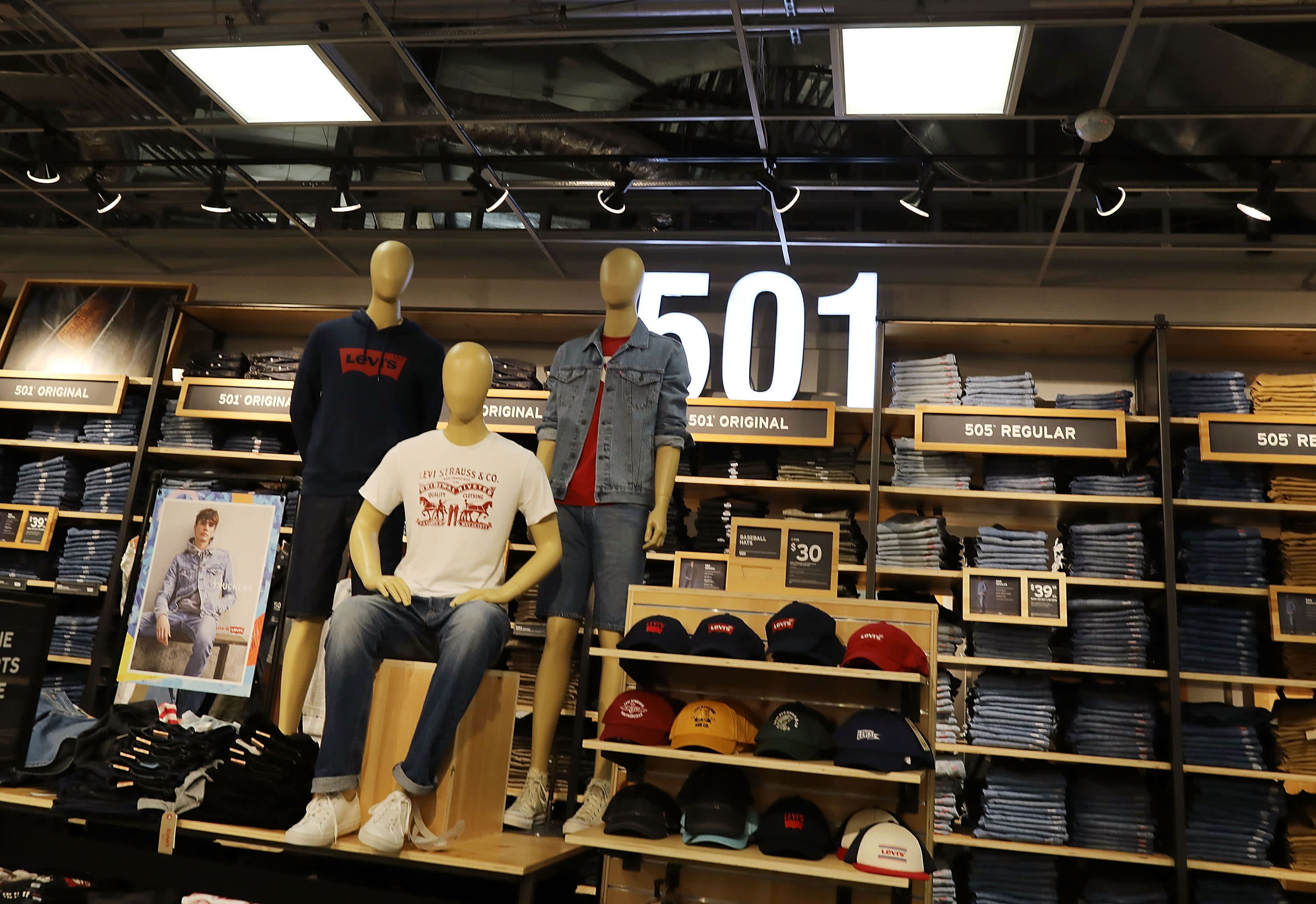 Levi's says 'everybody has a new size,' as shoppers return to stores