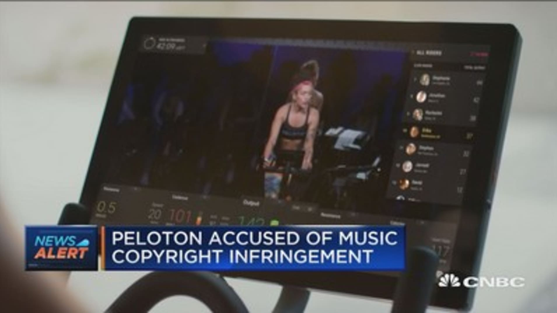 Music publishers sue Peloton for $150 million, accusing the company of copyright infringement