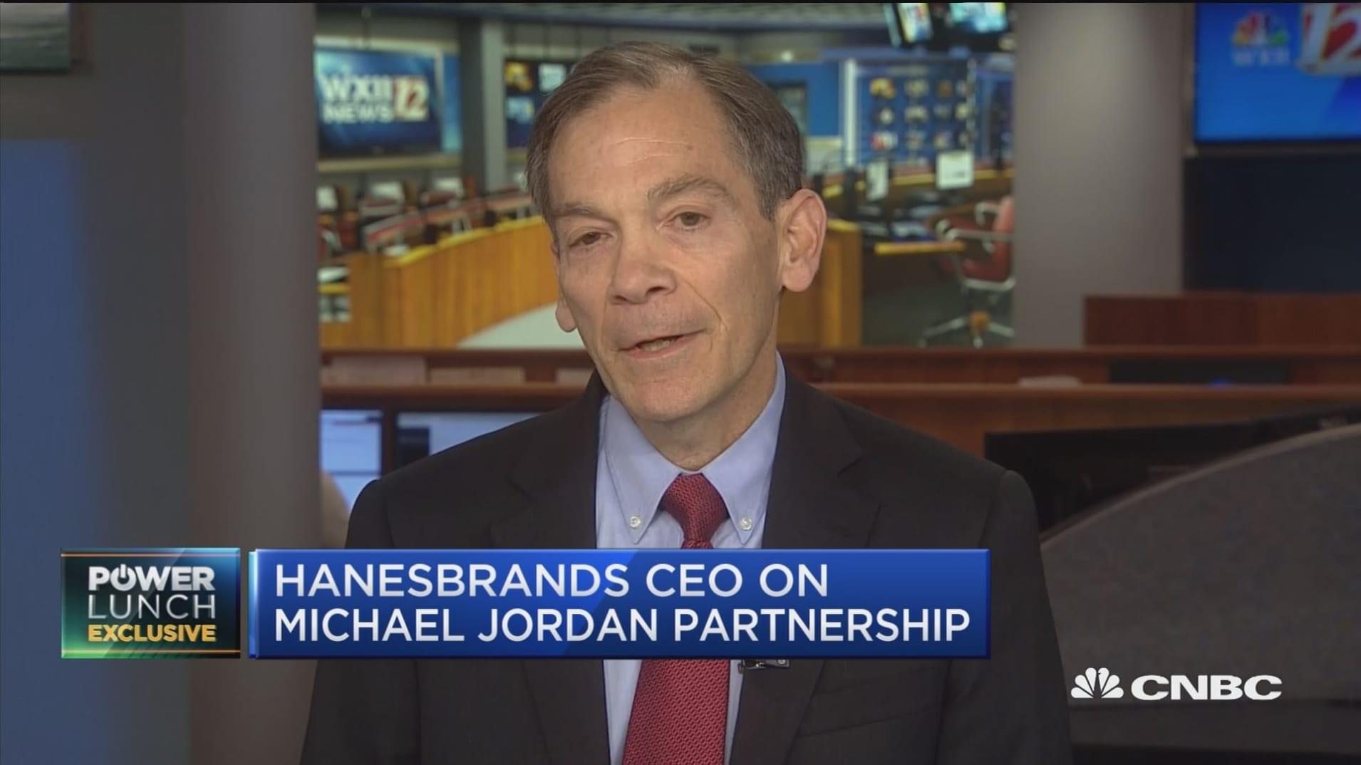 Hanesbrands CEO Gerald Evans discusses Michael Jordan partnership