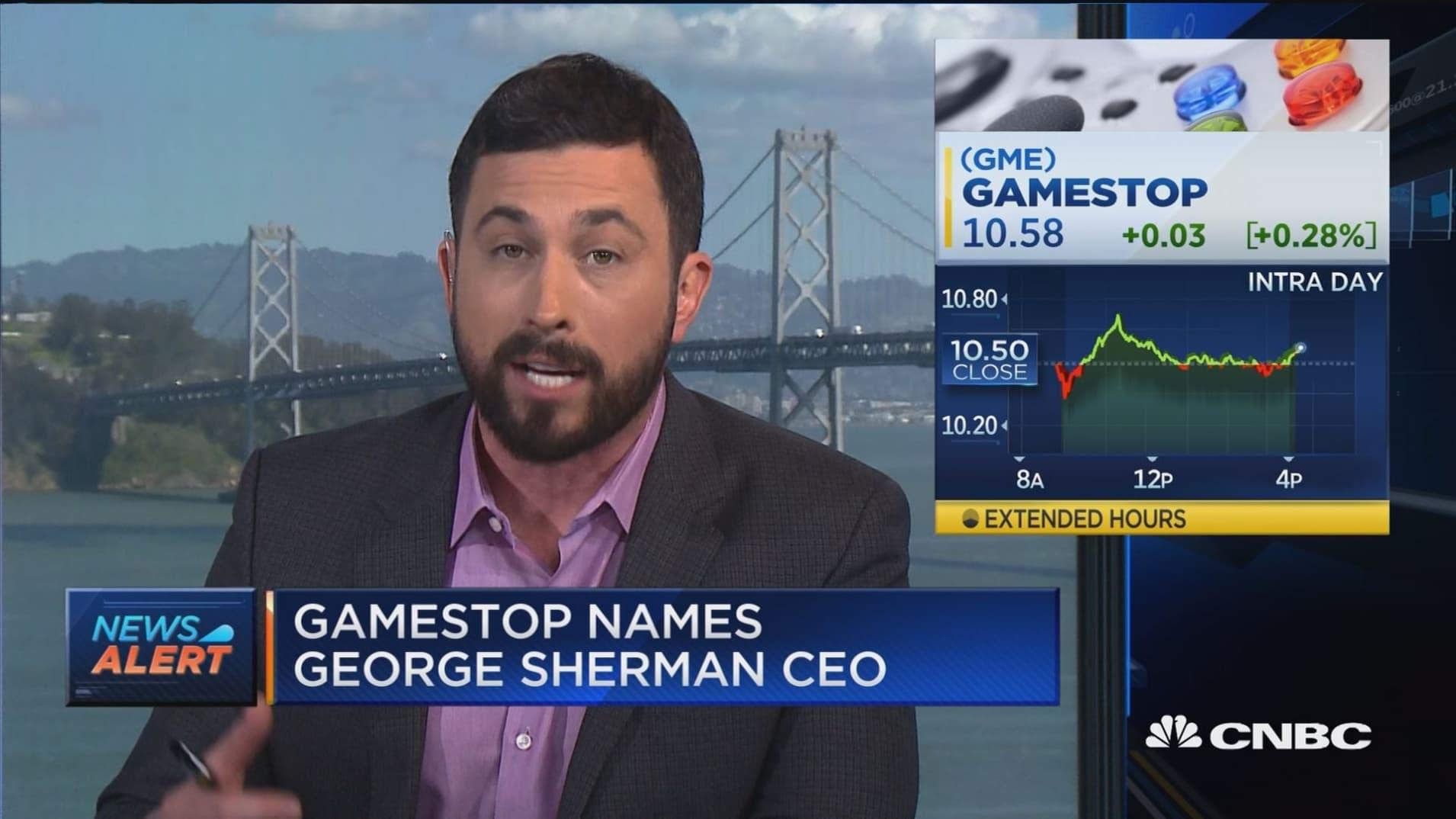 GameStop names George Sherman as new CEO