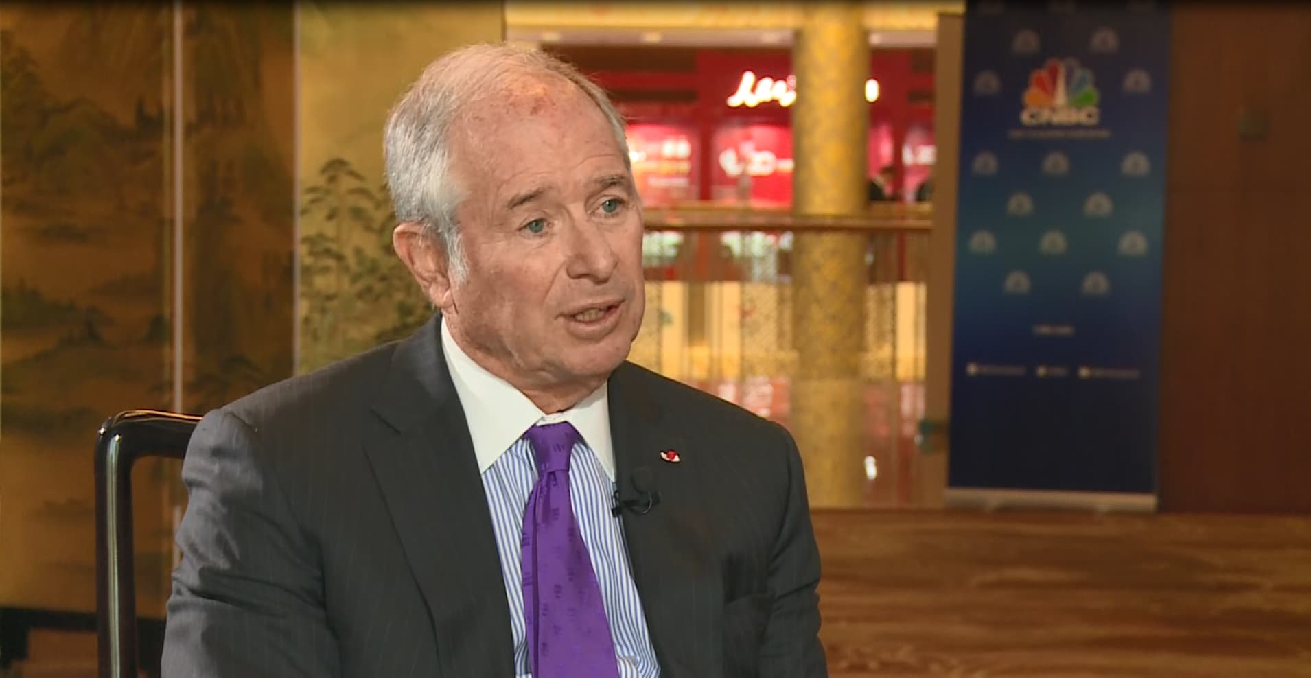 Blackstone's Schwarzman says it 'made no sense' that Trump would collude with Russia