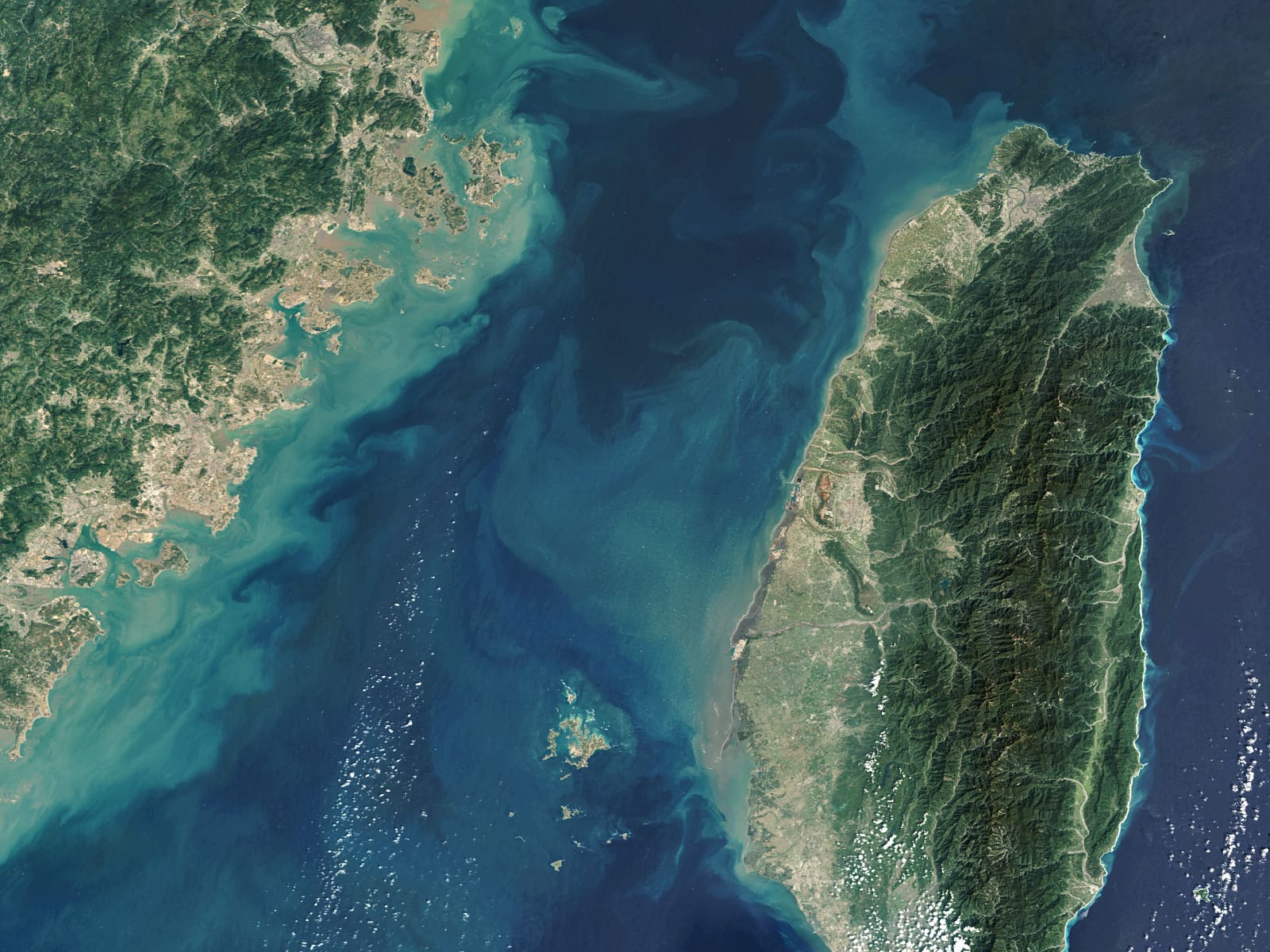 US Navy, Coast Guard ships pass through strategic Taiwan Strait