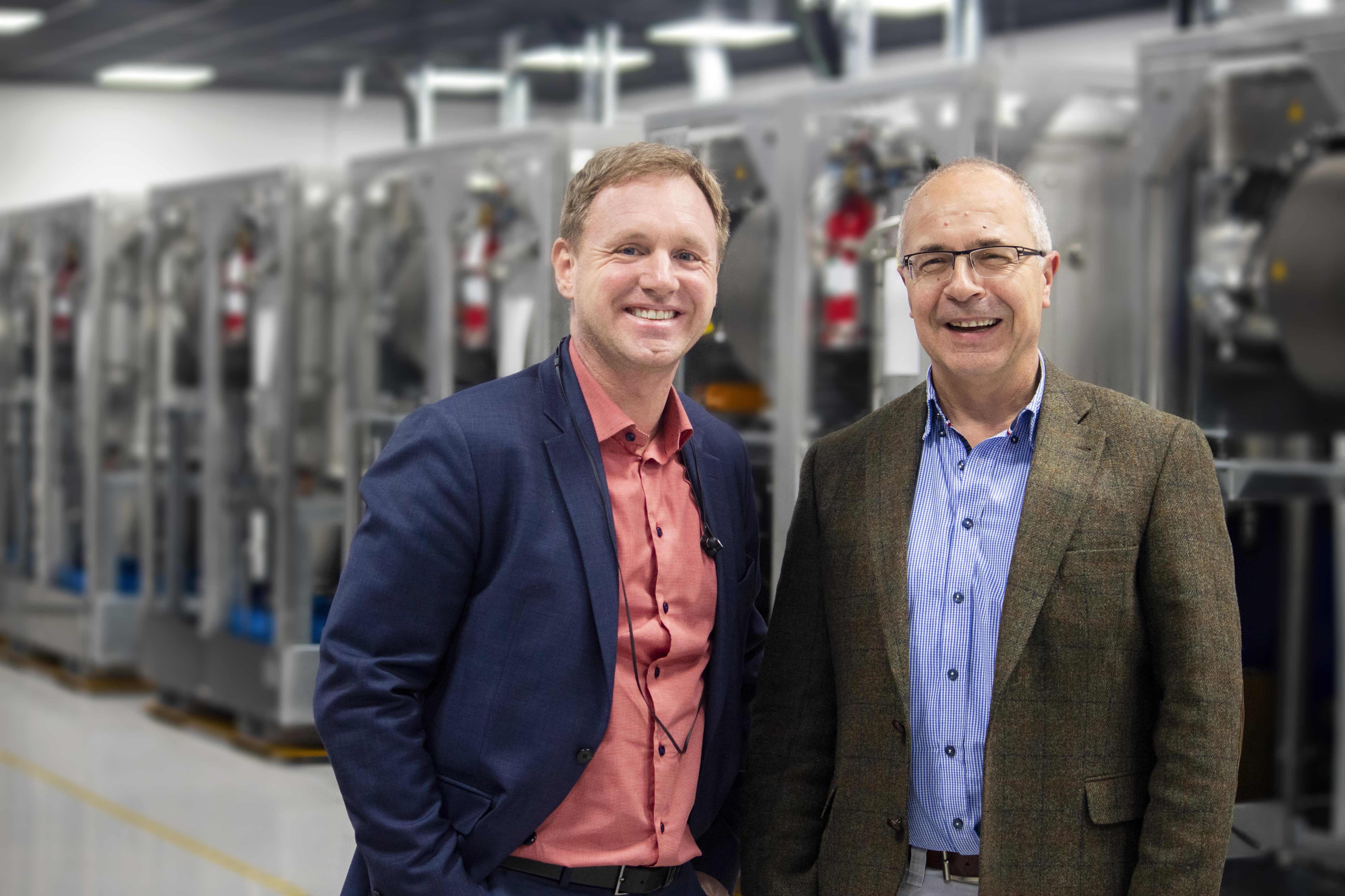 H/O Climeon founders Thomas Öström and Joachim Karthäuse