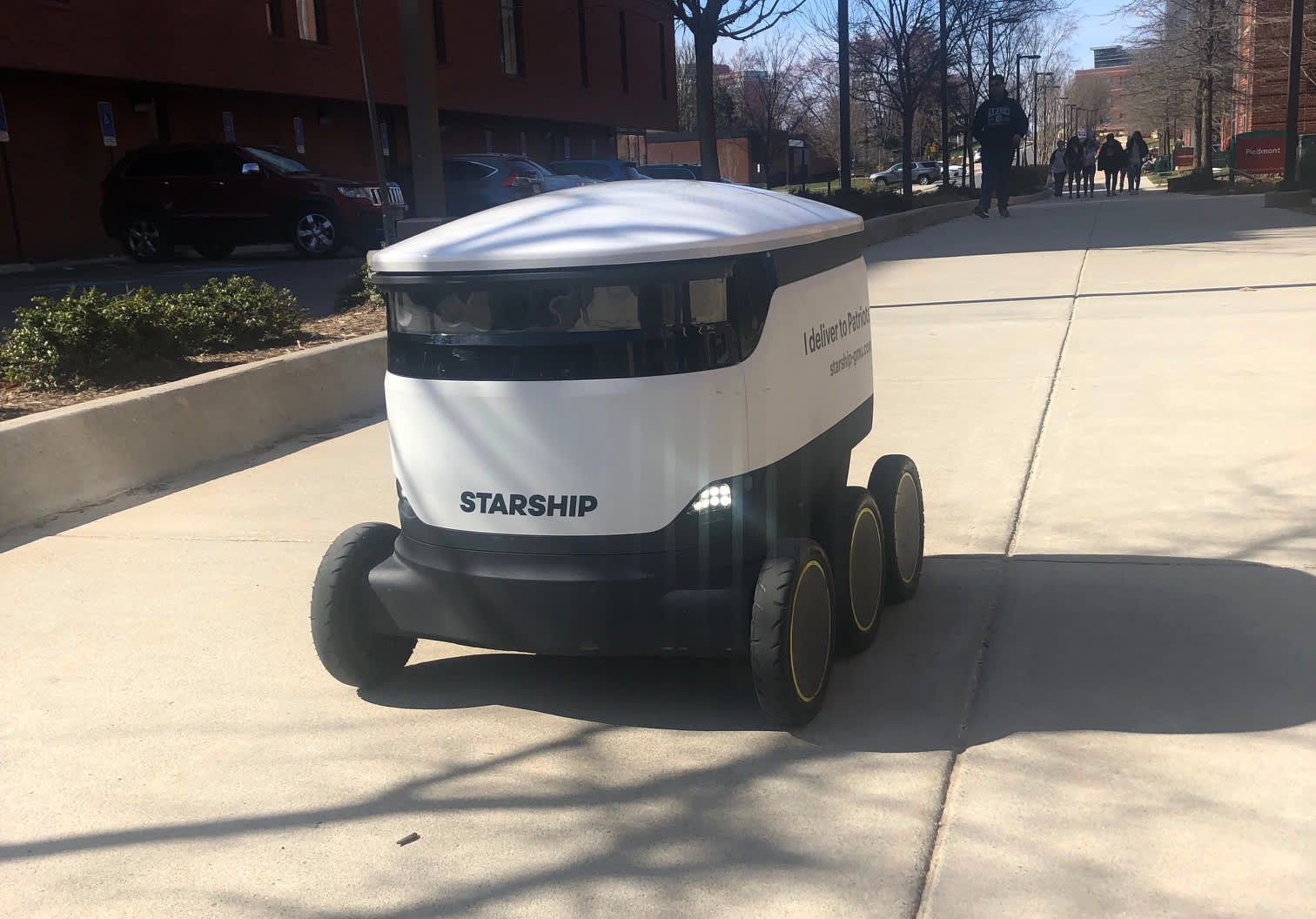 Starship Technologies and Sodexo have teamed up at George Mason University to offer food and beverage delivery via robot on campus.