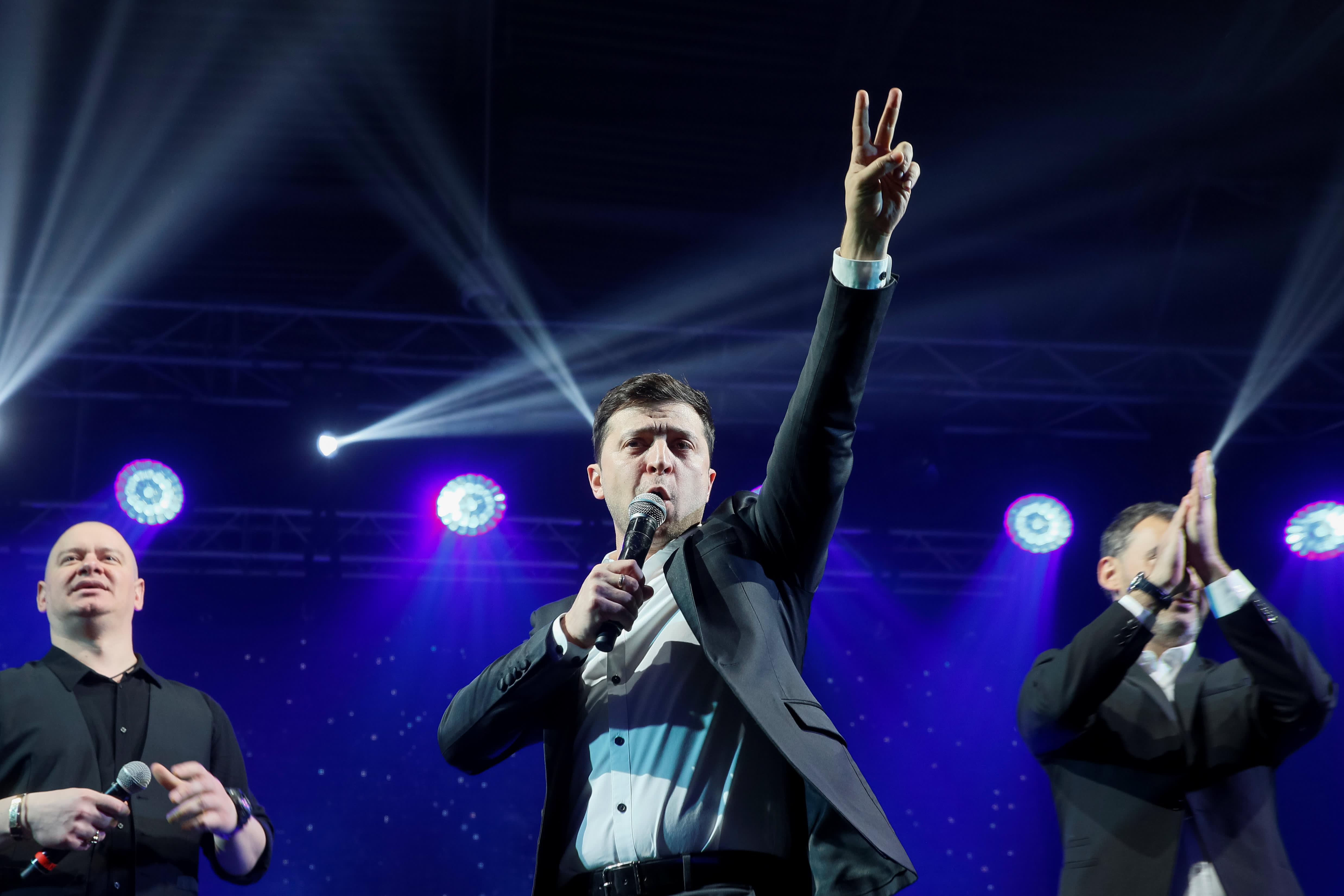 Comedian Zelenskiy wins Ukrainian presidential race by landslide: exit poll