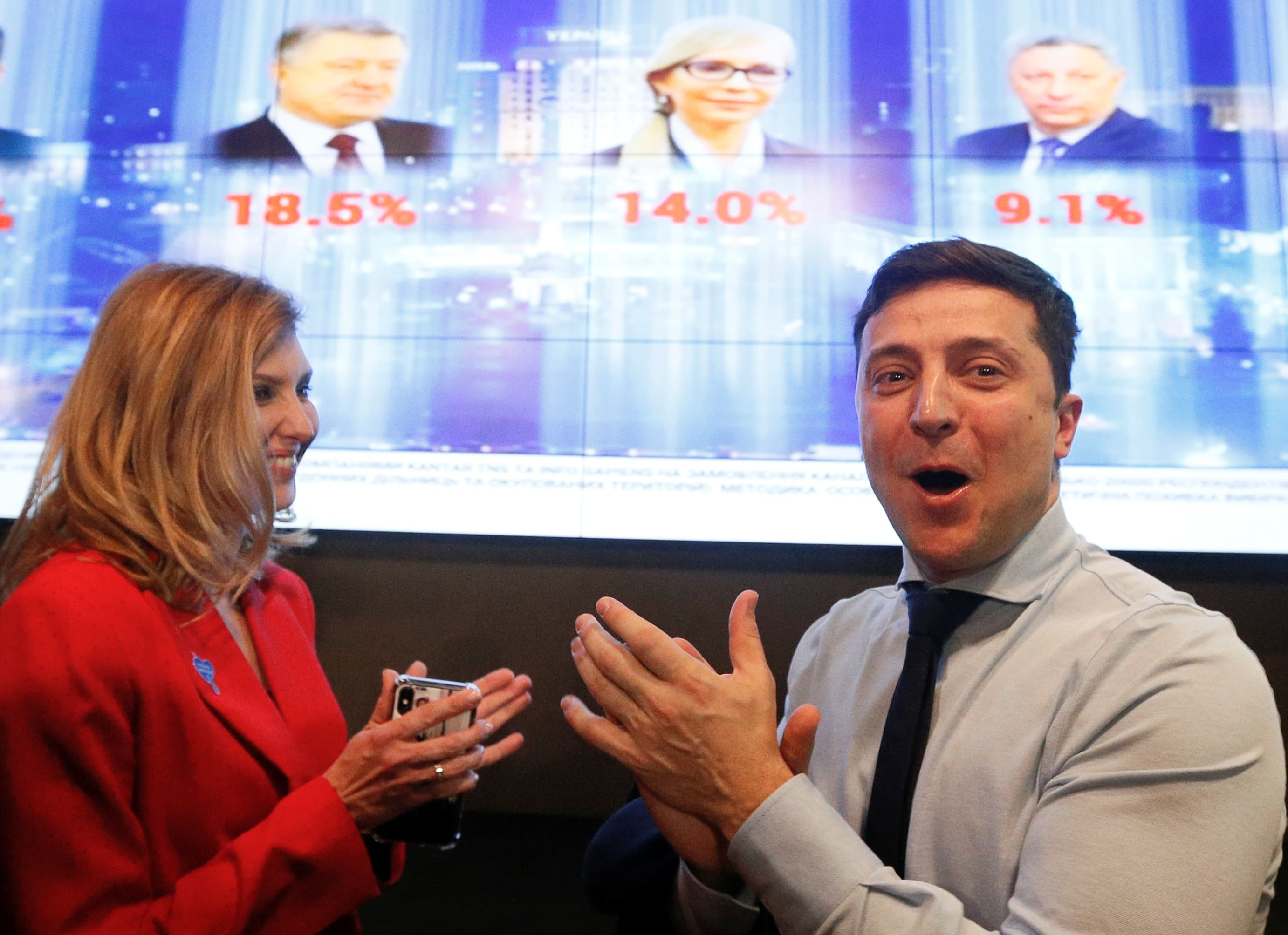 Ukraine elections: Comedian secures comfortable first-round win