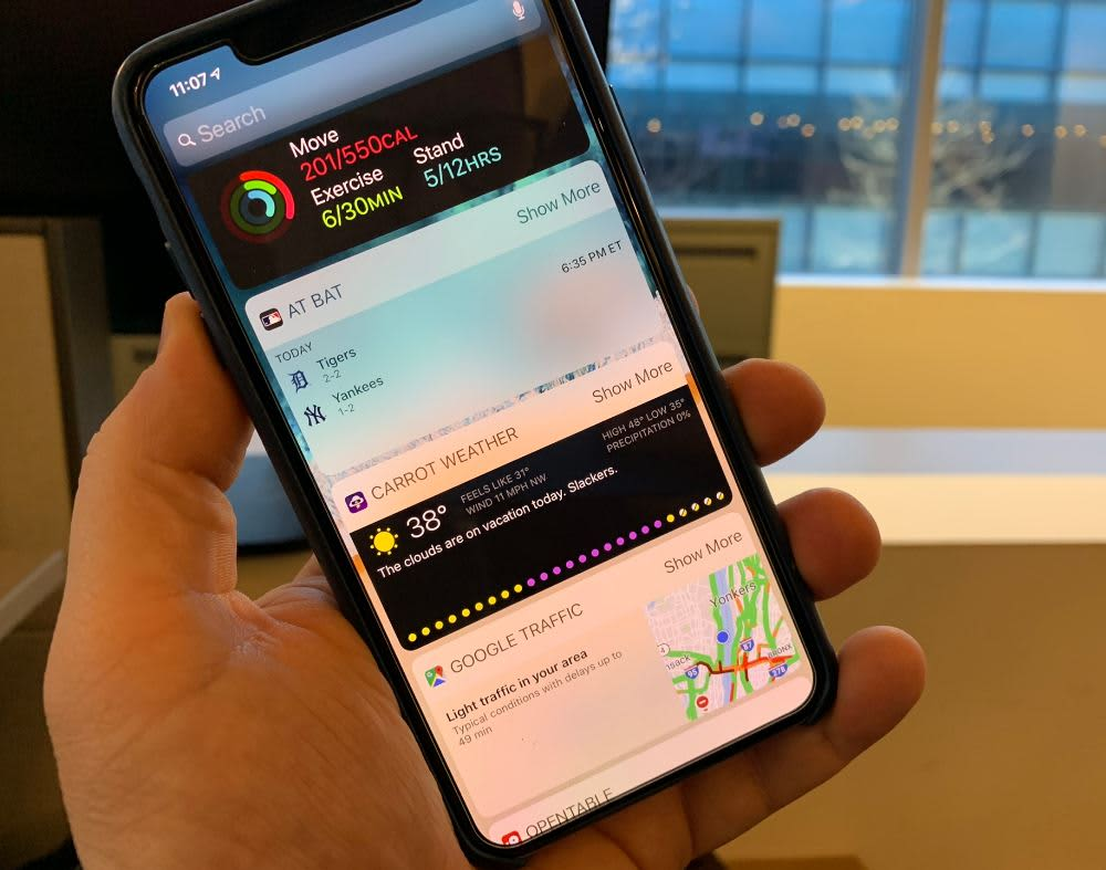 How to use iPhone widgets