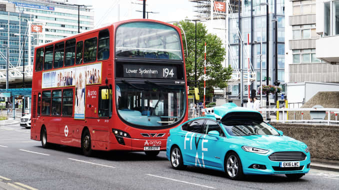 Autonomous vehicle tests underway in London