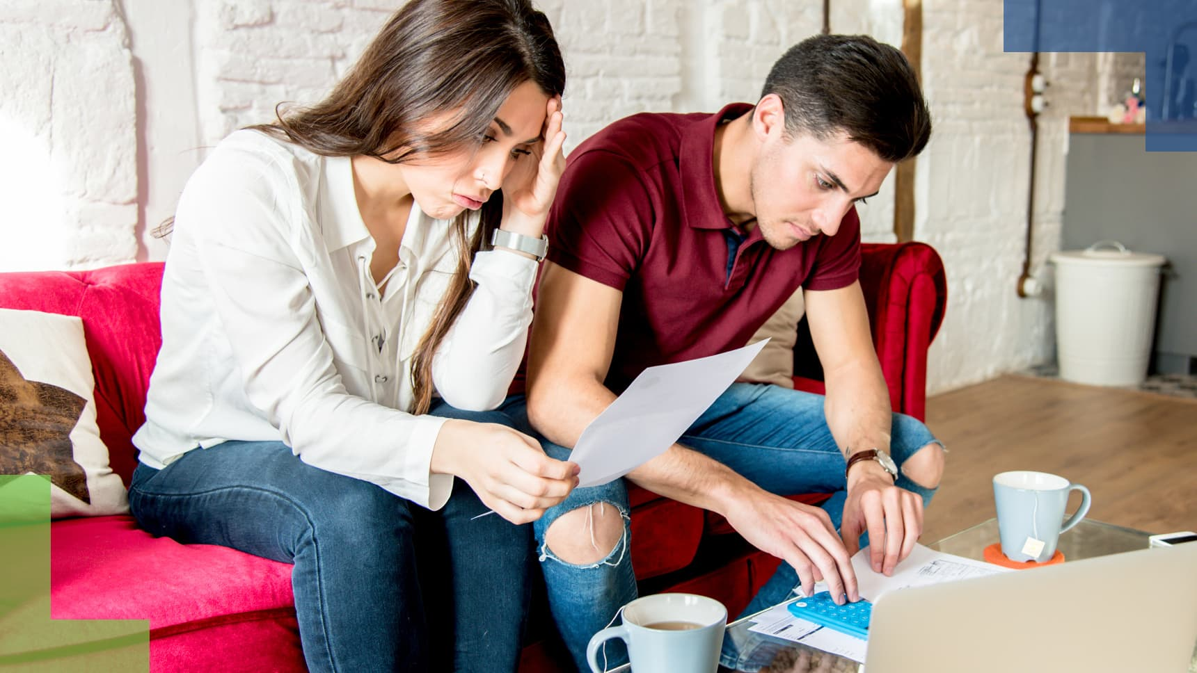GP: young couple with finance problems and emotional stress