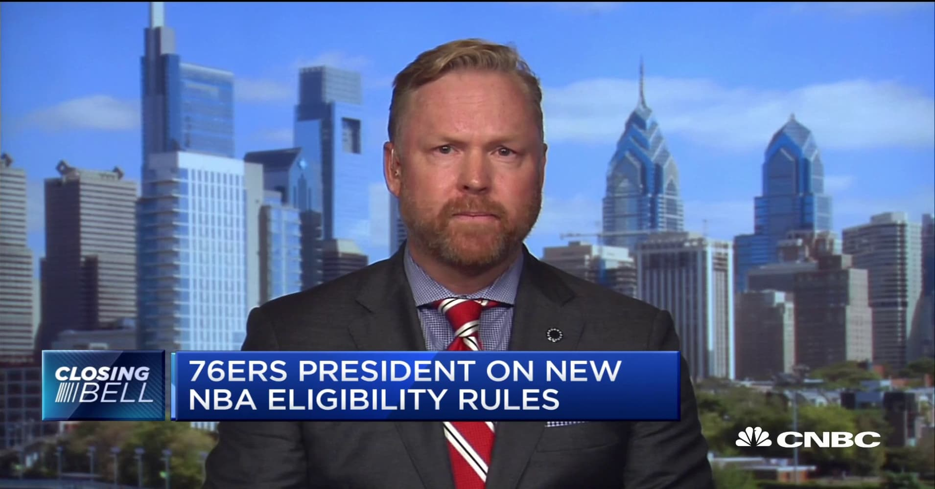 Watch CNBC's full interview with Philadelphia 76ers president Chris Heck