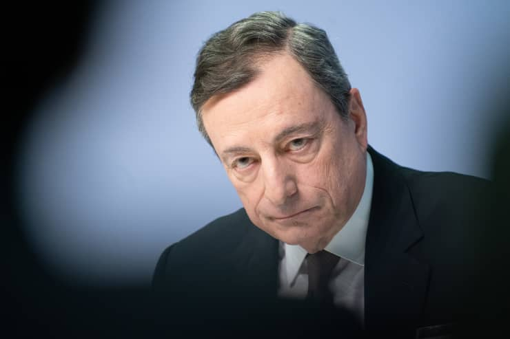 ECB President Draghi Announces Rates Decision