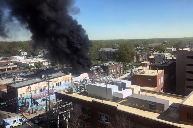 AP: Explosion in North Carolina smoke 190410