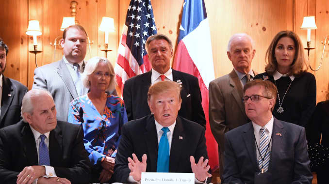 Trump Round Table.Trump Says He Will Have To Send More Troops To The Us Mexico Border