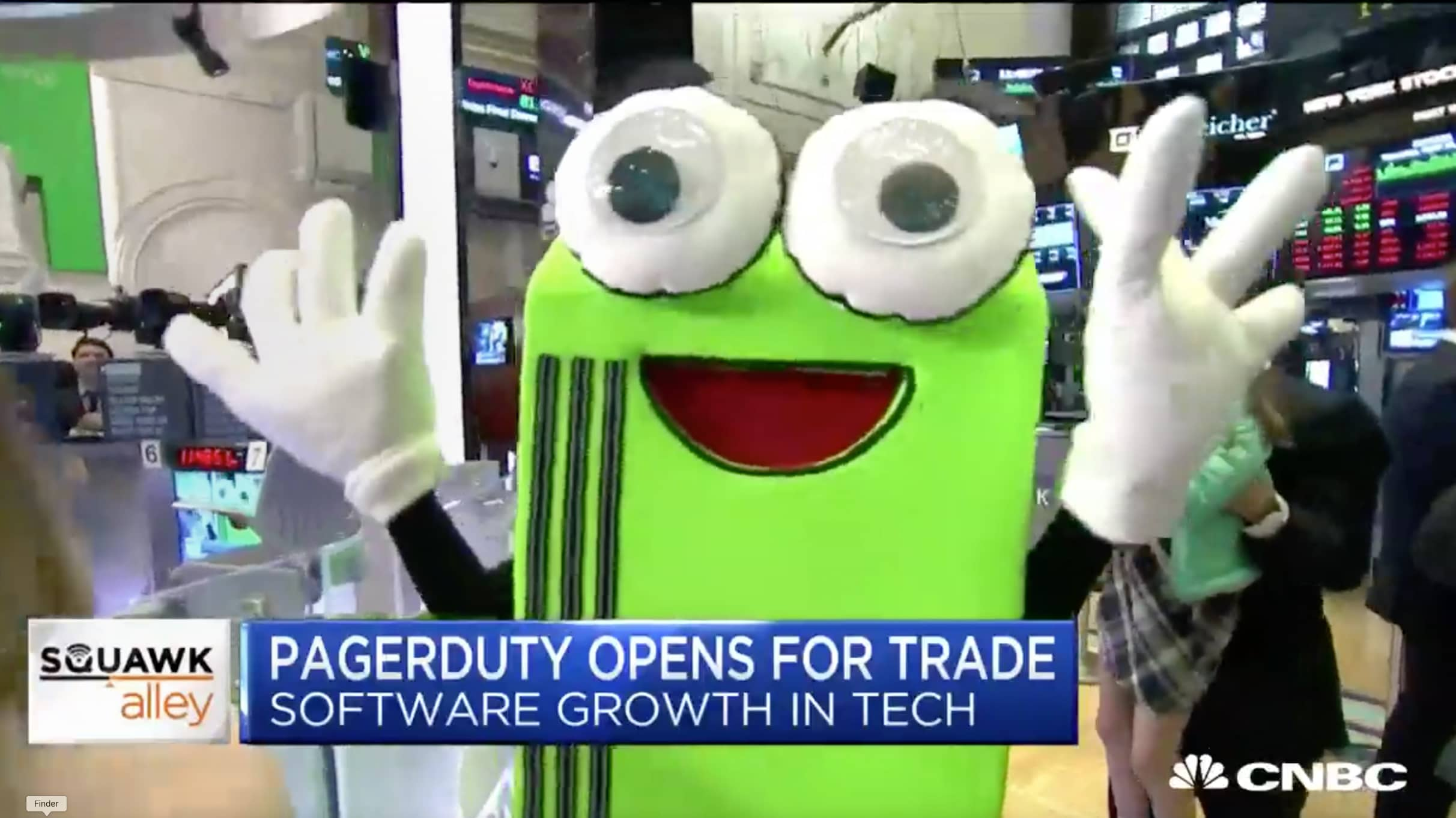 Pagey at NYSE