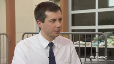 Pete Buttigieg says his experience as mayor of small city South Bend gives him an advantage in the presidential race