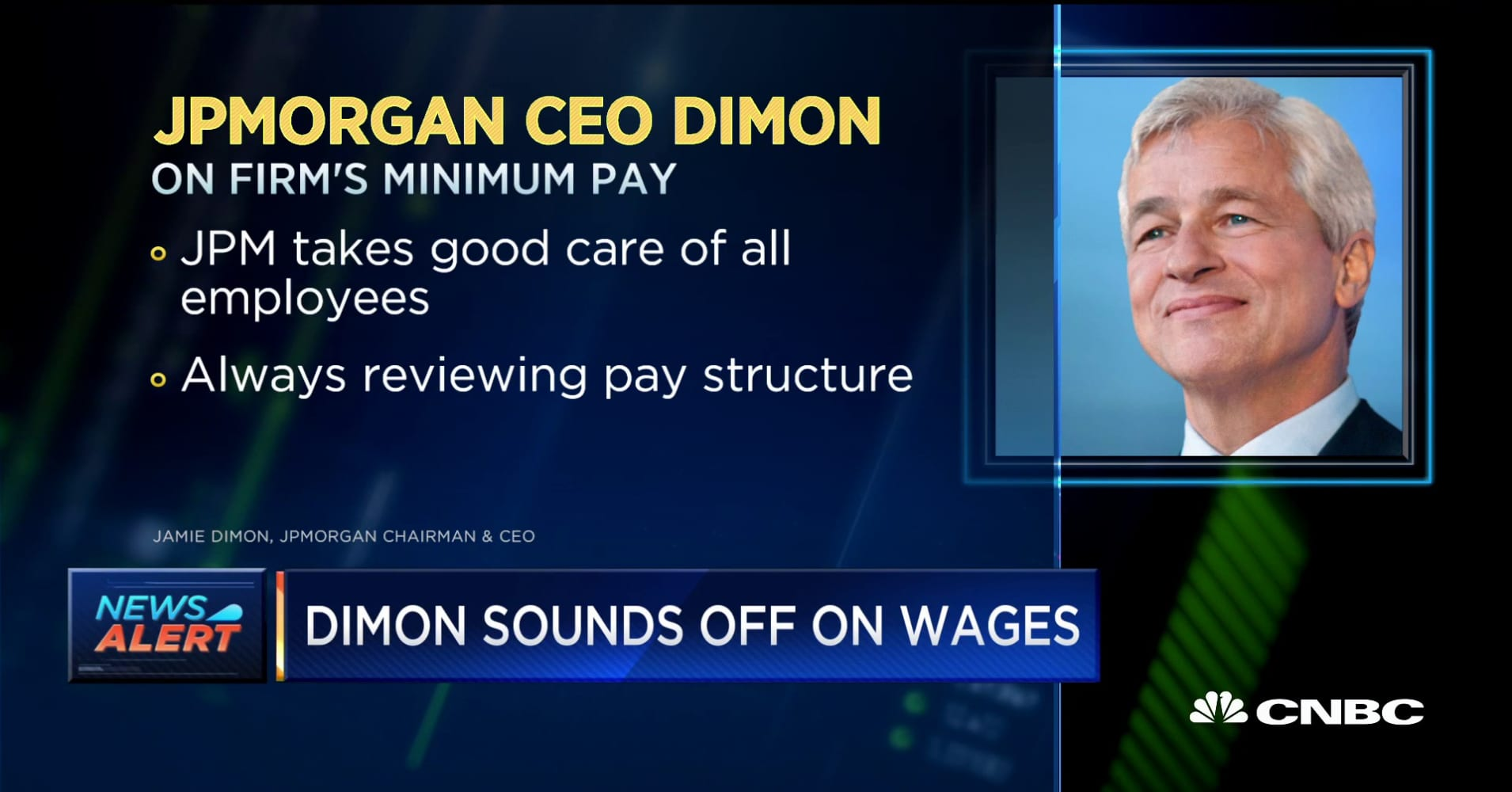 JP Morgan CEO Dimon weighs in on the firm's minimum wage