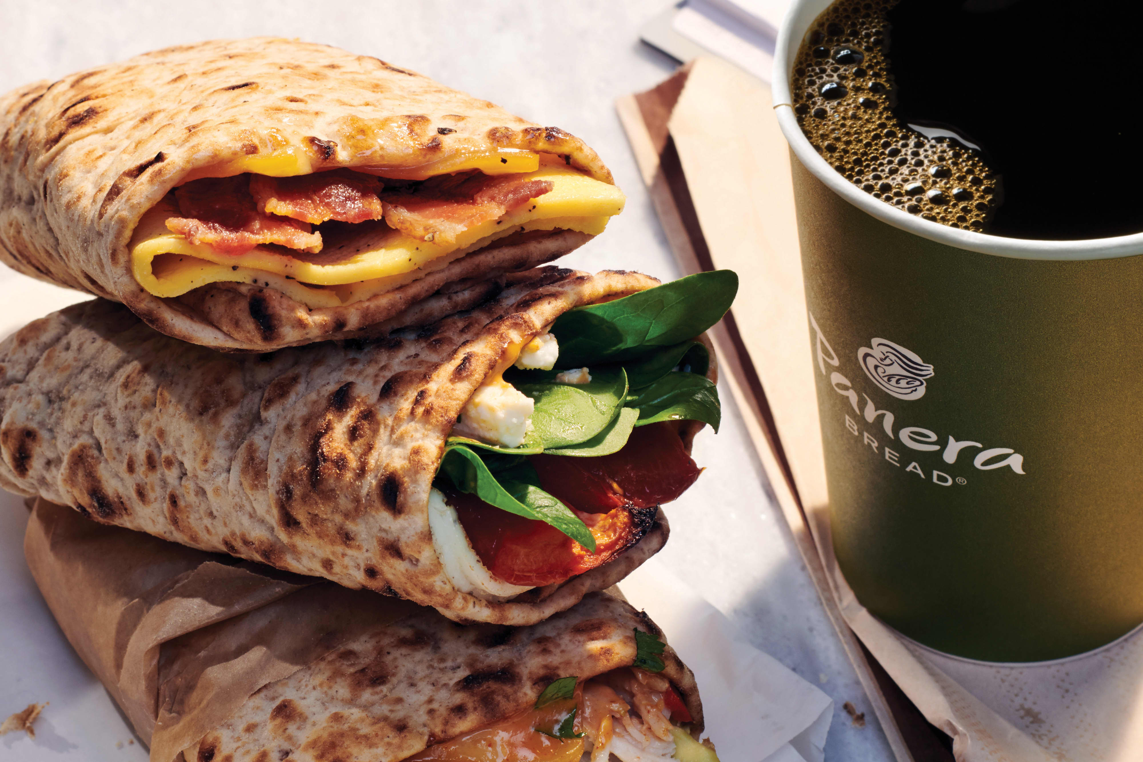 EMBARGOED: H/O: Panera Breakfast Wraps and Coffee