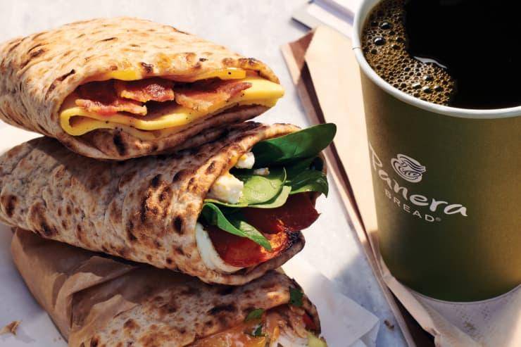 EMBARGOED: H/O: Panera Breakfast Wraps and Coffee