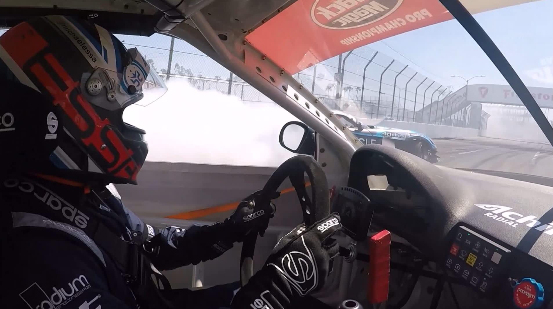 Watch: Riding shotgun in a Formula Drift race car