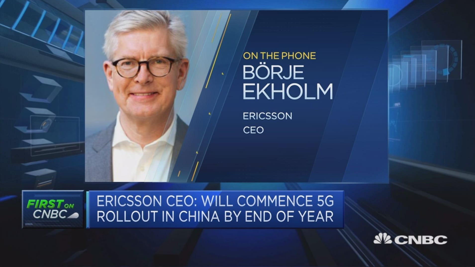 European 5G regulation needs to be more accommodative, Ericsson CEO says