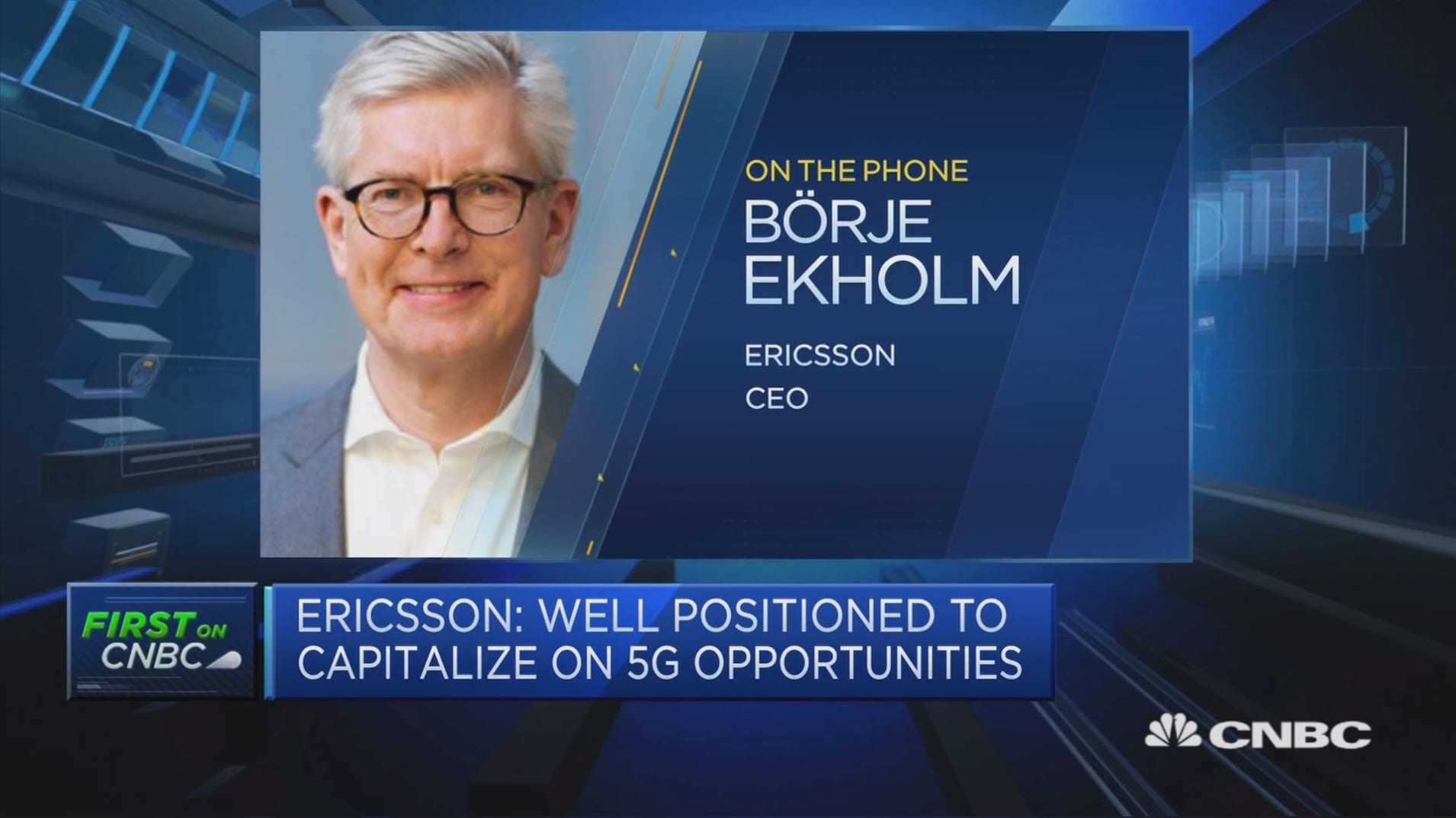 We won't use price as a weapon to improve margins, Ericsson CEO says