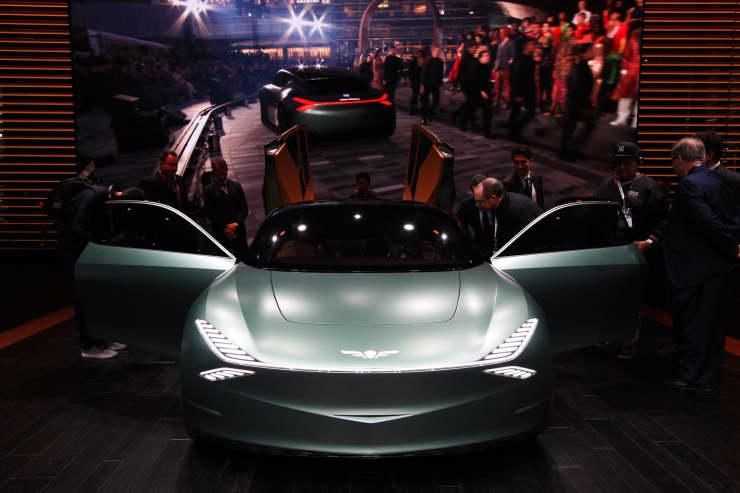 CNBC: 2019 NYIAS: Genesis concept car 1