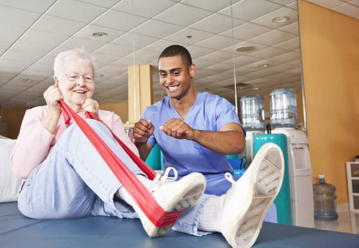 GP: Physical therapist working with patient