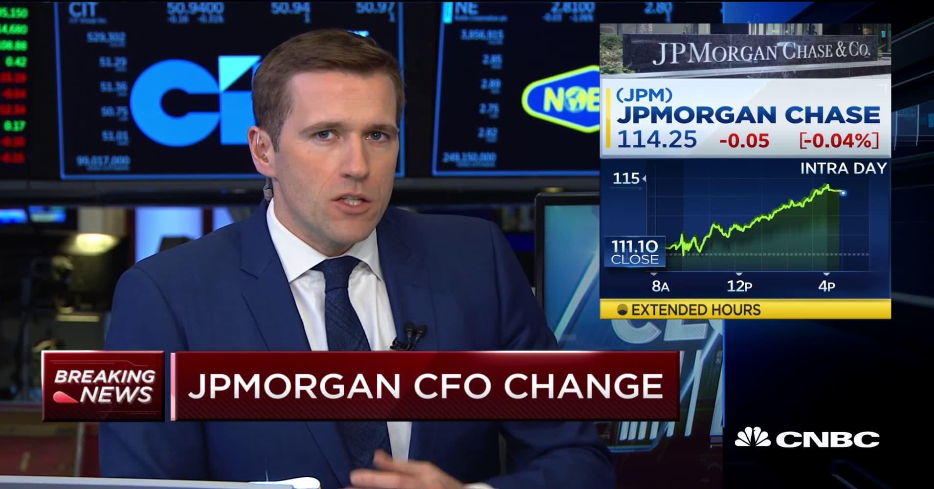 JP Morgan CFO to take on top consumer lending role