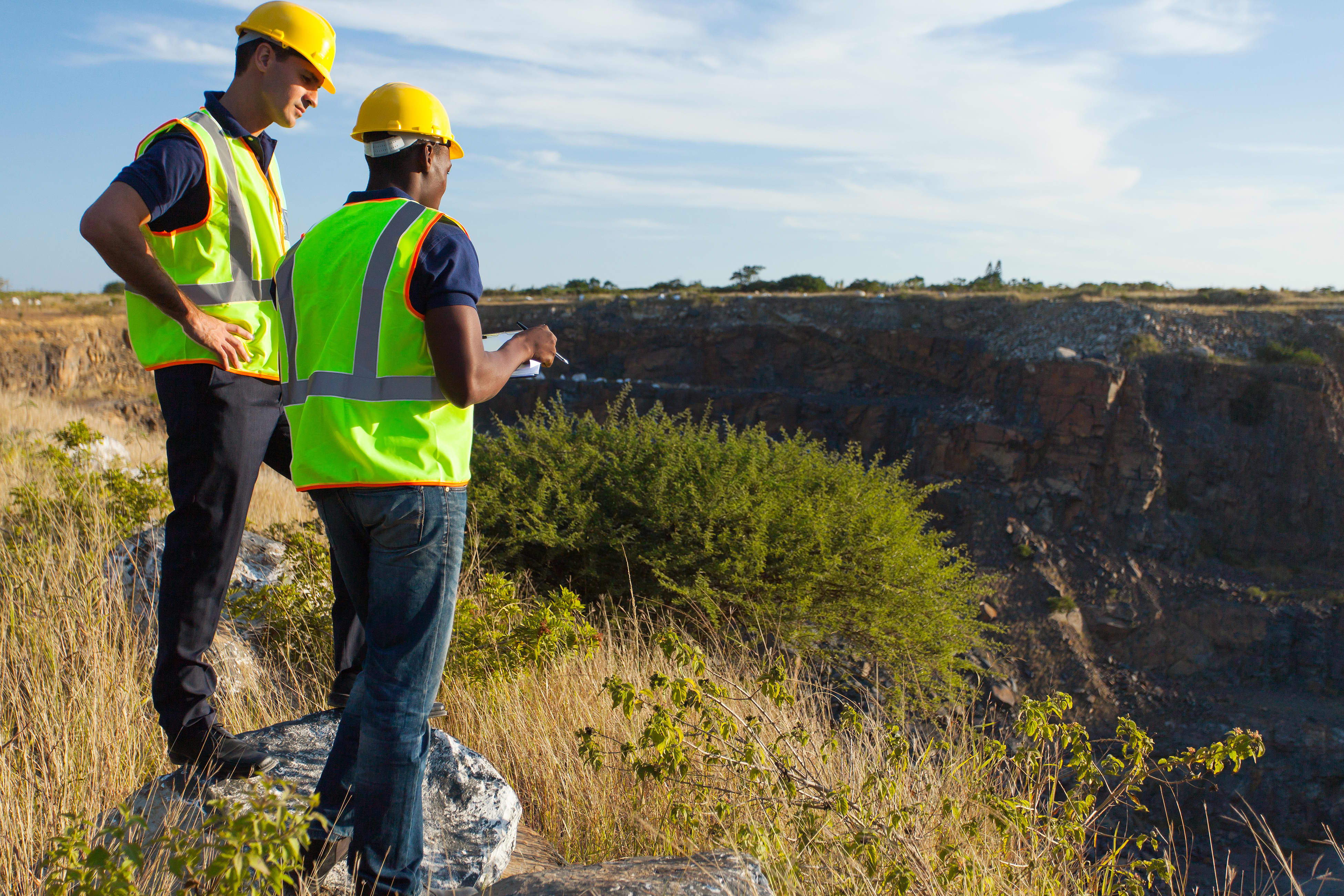 GP: surveyors working at mining site