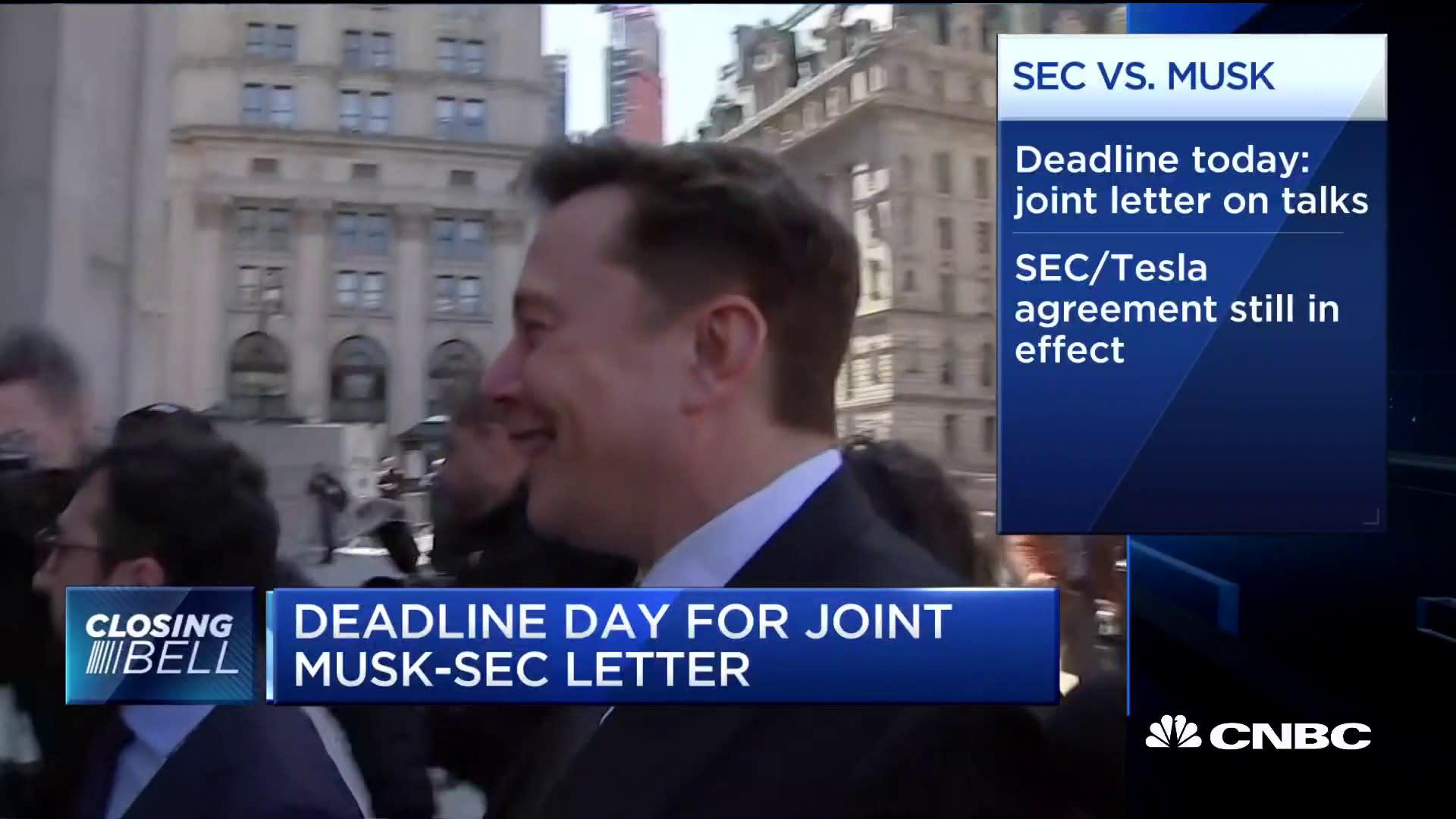 1e85f4285f92 Deadline day for joint Elon Musk-SEC letter