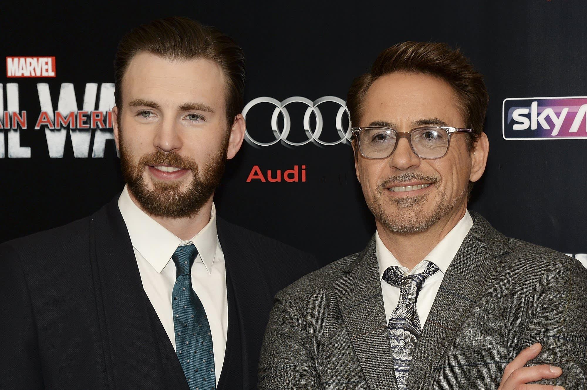 Check out this $275,000 'Avengers'-themed car Robert Downey Jr. gave Chris Evans
