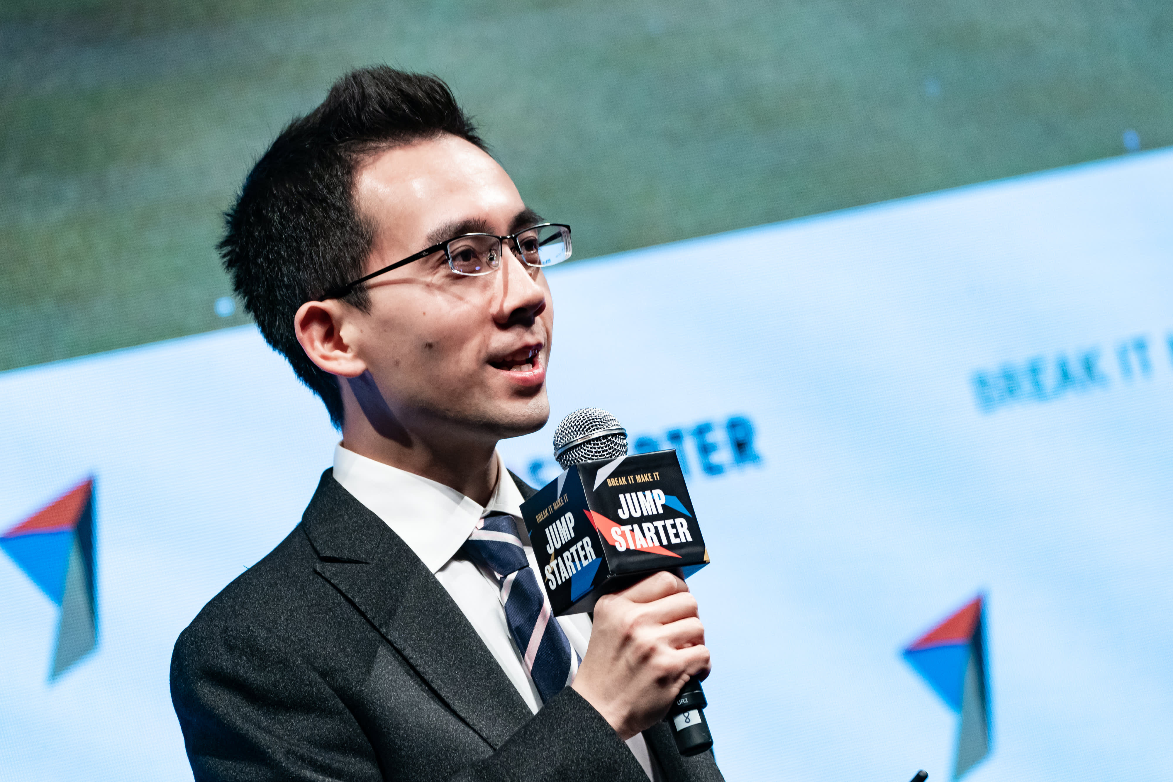 Jianxiong Xiao, founder and chief executive officer of AutoX Inc., speaks during the Jumpstarter conference in Hong Kong, China, on Thursday, Jan. 24, 2019.