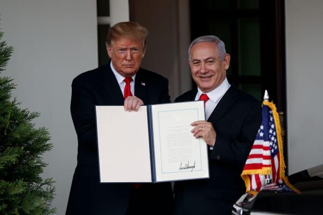 e46f41a02e3451 GP  Donald Trump Benjamin Netanyahu U.S.-WASHINGTON D.C.-PRESIDENT-ISRAEL-PM