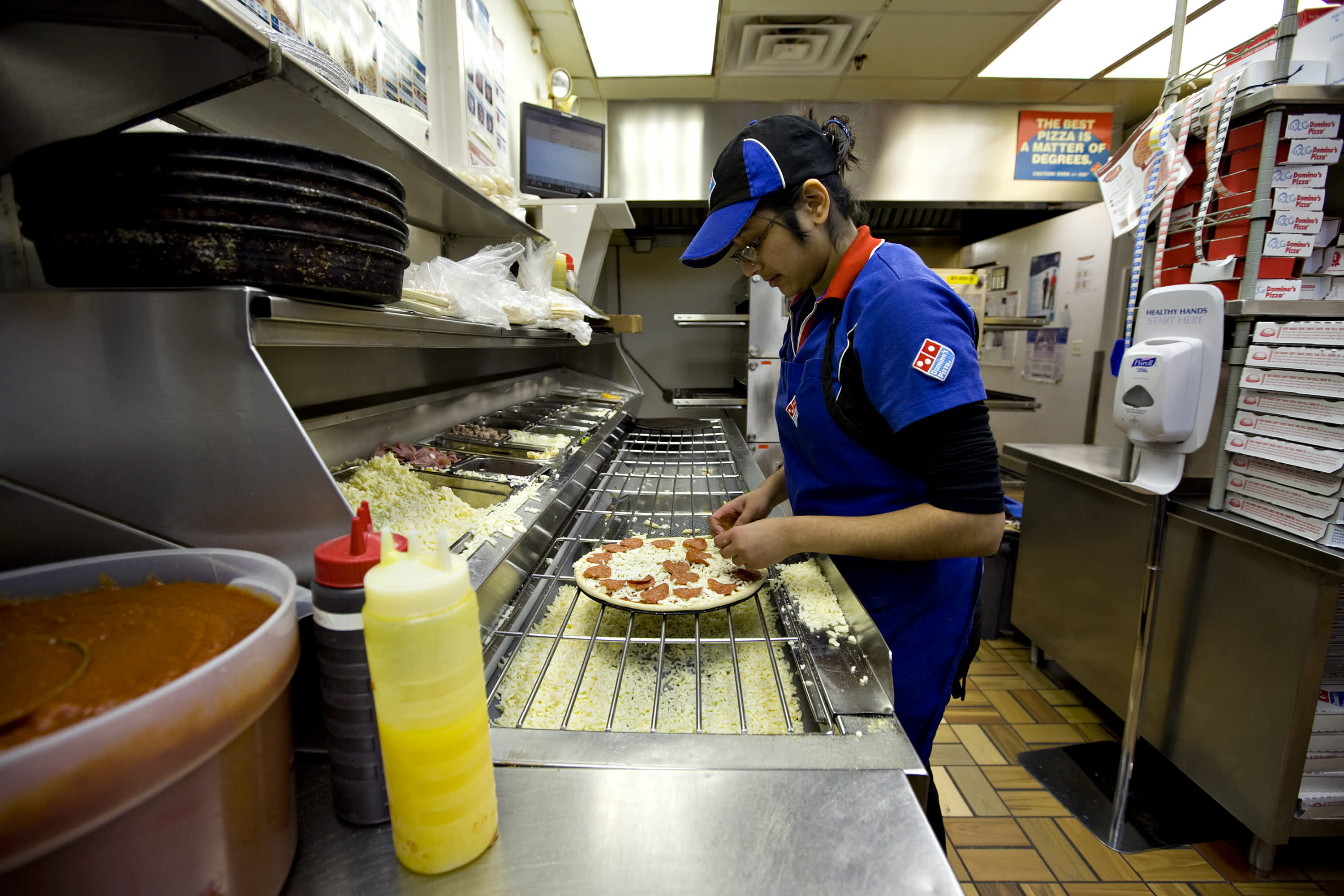 Domino's shares jump after earnings beat, shrugging off slowing sales