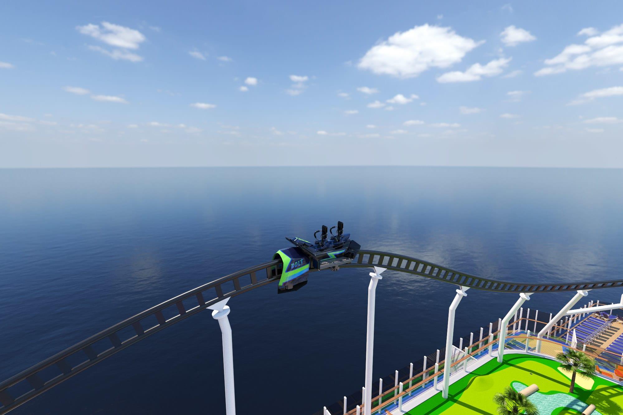 Rendering of Carnival's Bolt Ultimate Sea Coaster