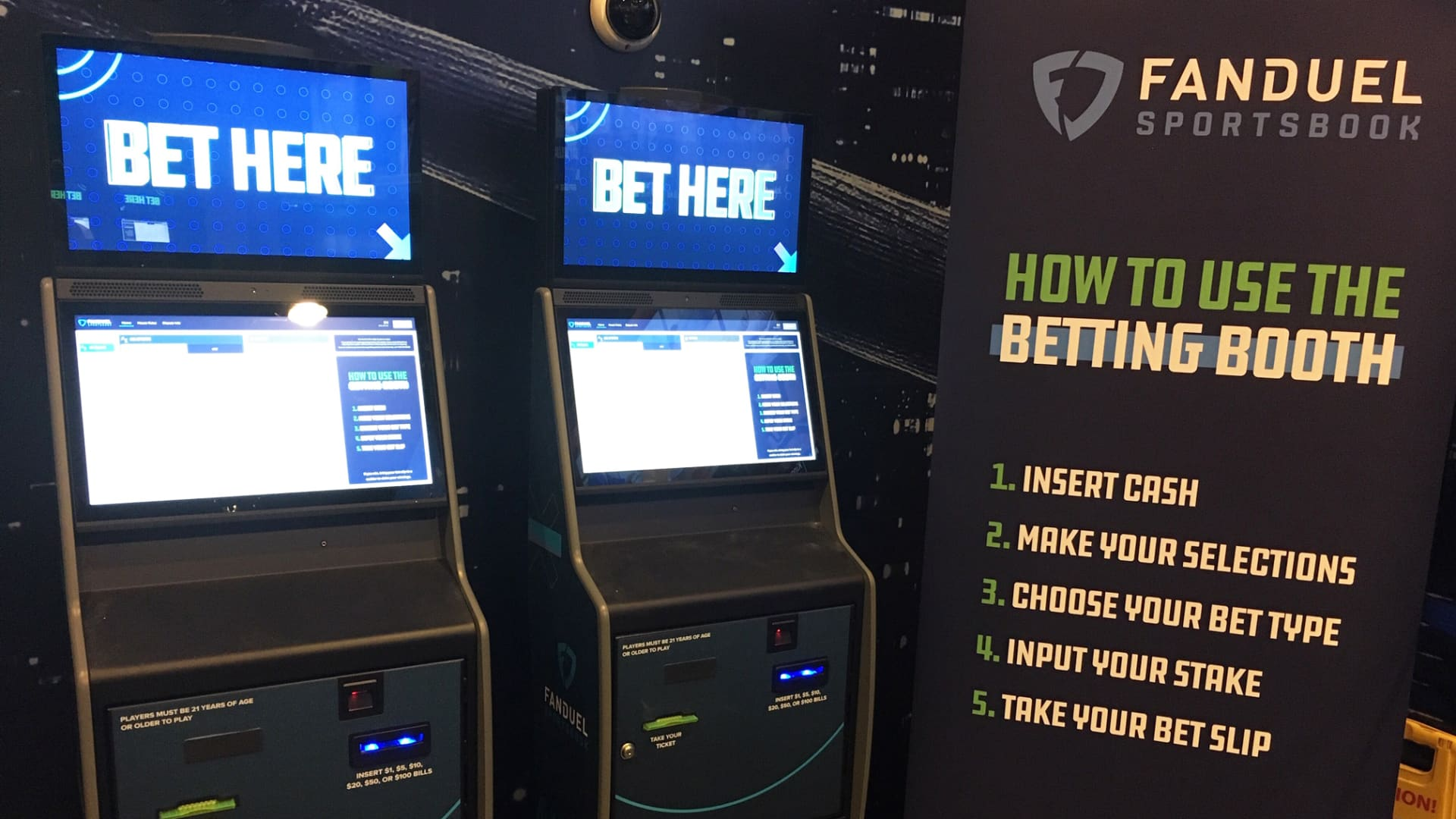 FanDuel betting booths