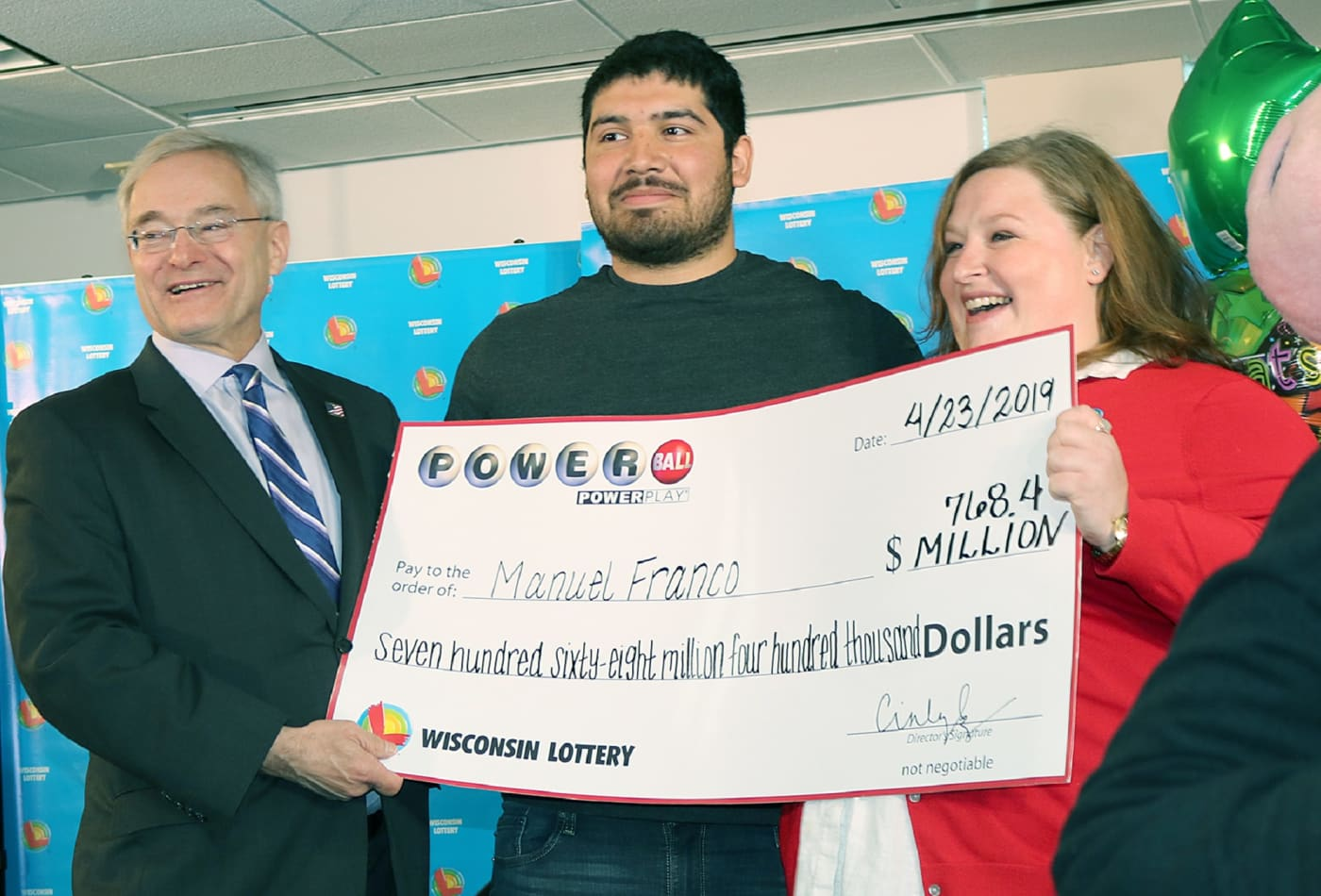 Wisconsin Powerball winner Franco had under $1,000 in his