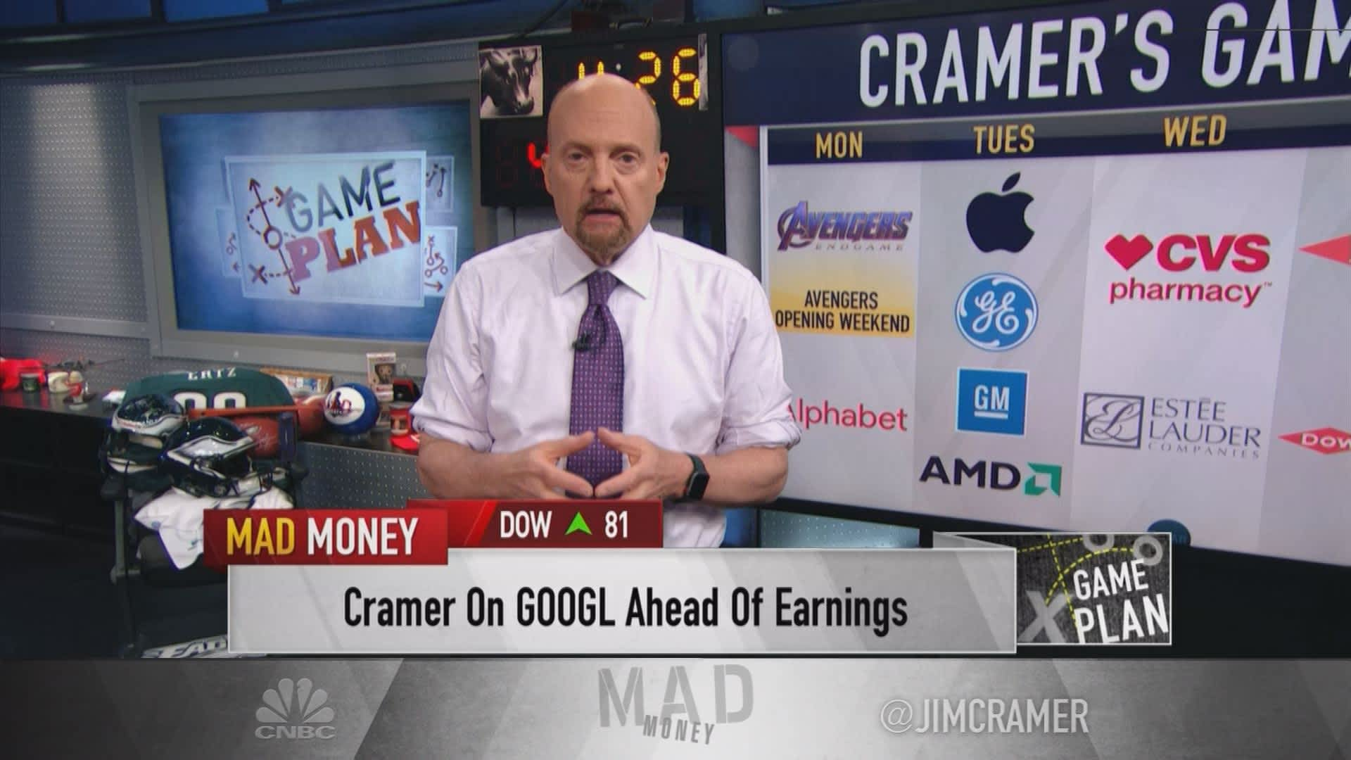 Cramer's game plan: What to expect in the week of earnings and Friday's jobs report
